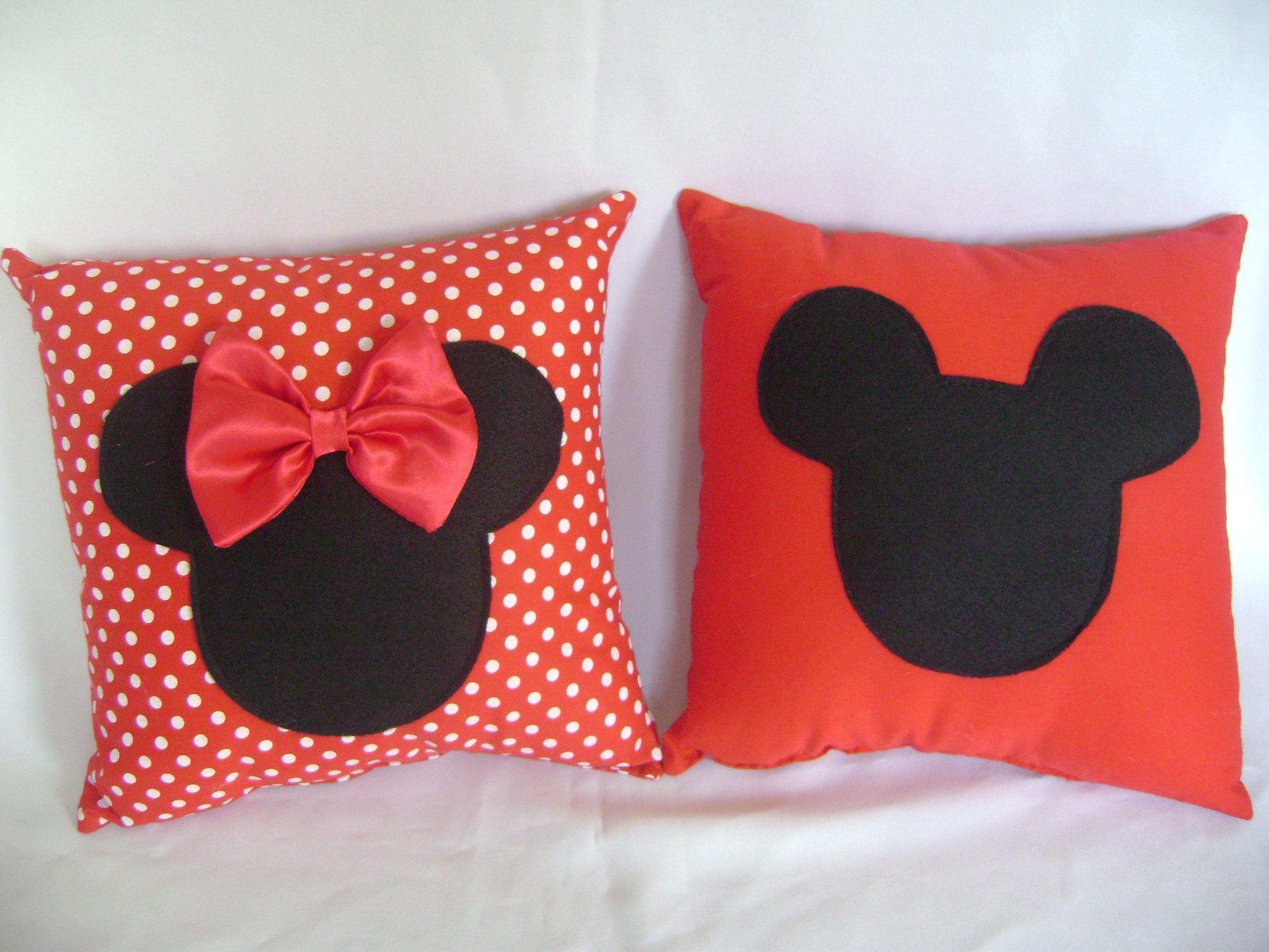 Almofada Mickey Ama Minnie Decor Home Organizer ~ Cozinha Da Minnie De Verdade