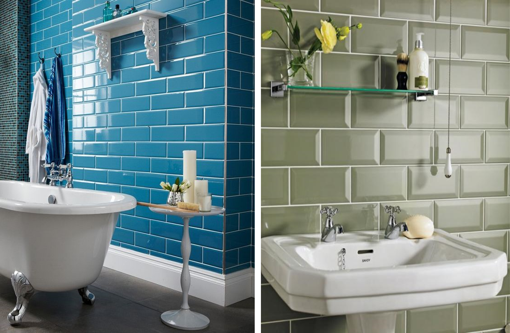 Tend ncia na decora o azulejo de metr ou subway tiles for Azulejo metro