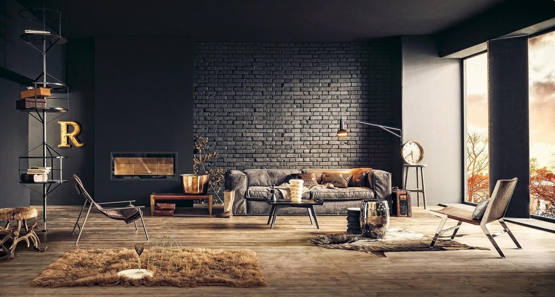 Decora O Industrial 2 Sala De Estar E Tv Decor Home Organizer -> Sala De Tv E Biblioteca