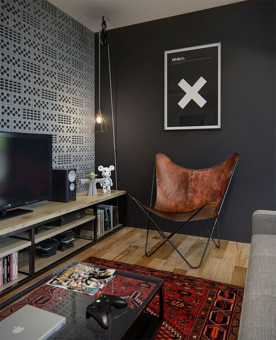 Small Home Office Ideas For Men And Women: DECORAÇÃO INDUSTRIAL #2: SALA DE ESTAR E TV