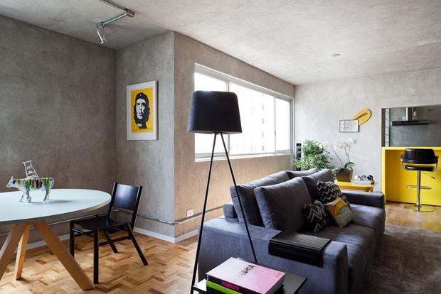 Decora o industrial 2 sala de estar e tv decor home for Cortina de estilo industrial